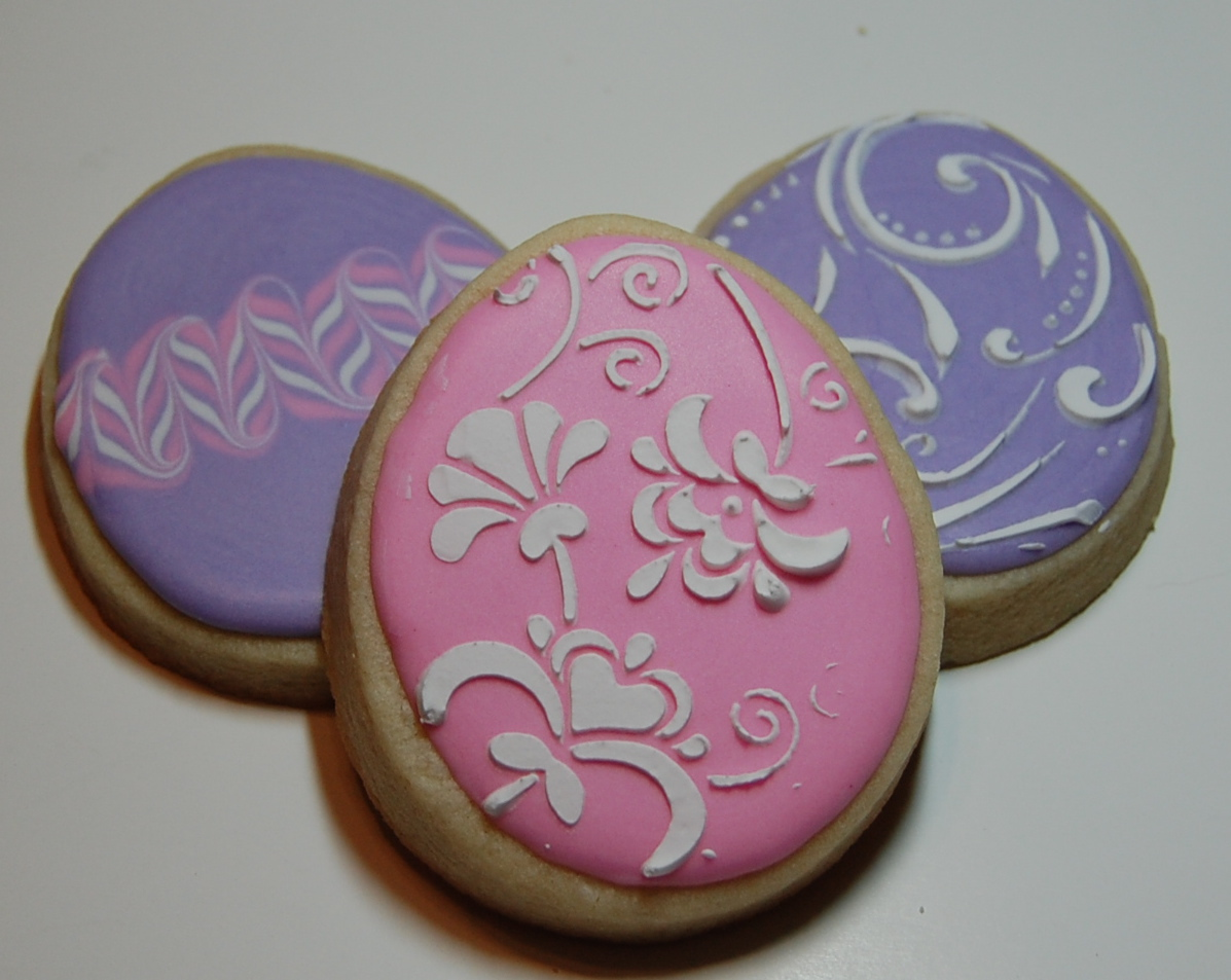easter egg sugar cookies stencil