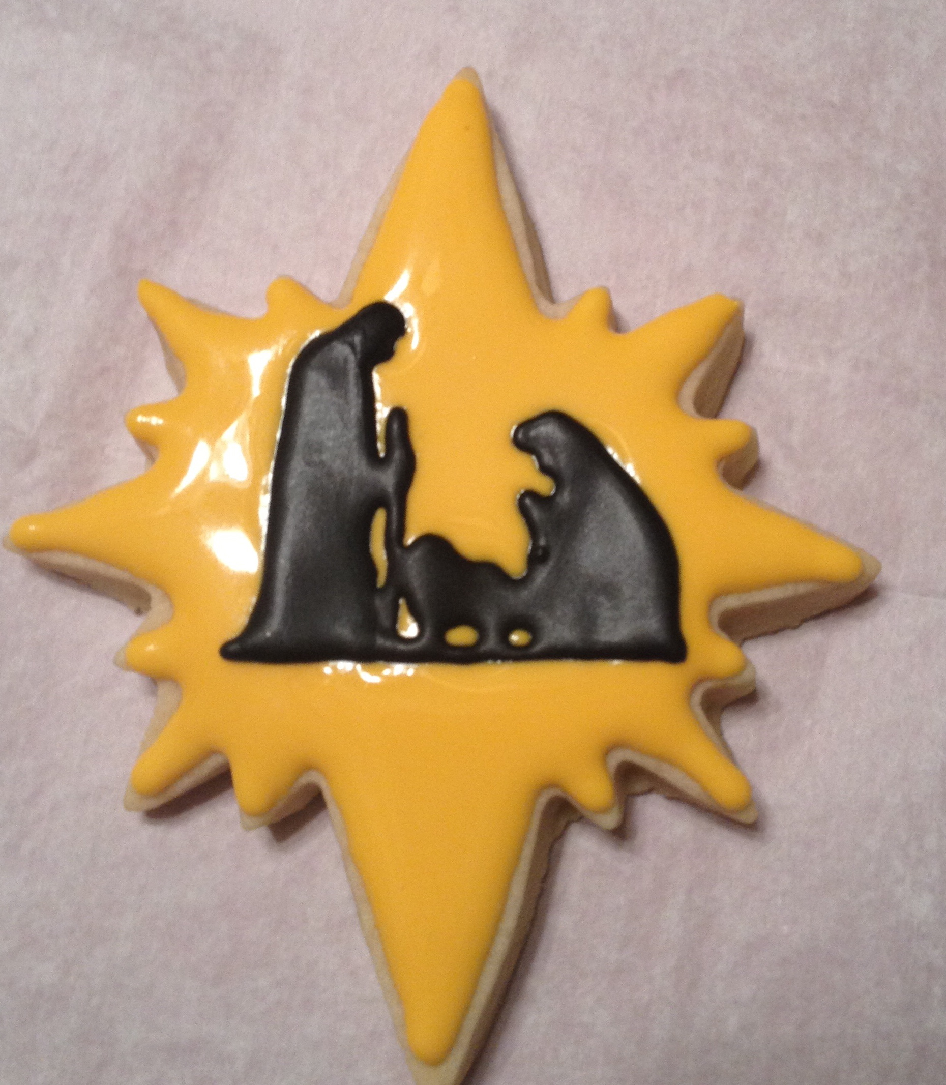 Sugar Cookie Star with Nativity