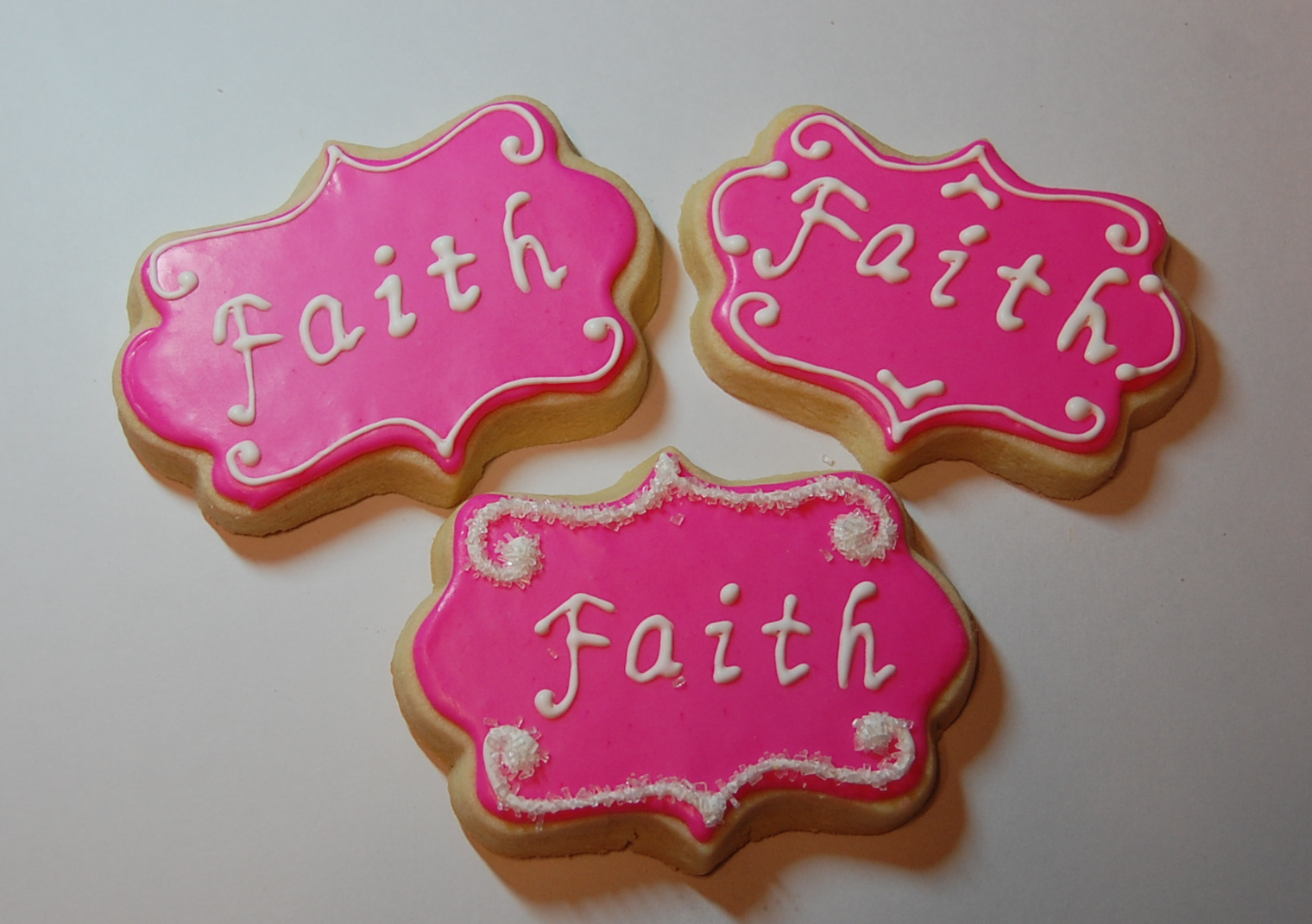 Faith Sugar Cookies - Breast Cancer Awareness
