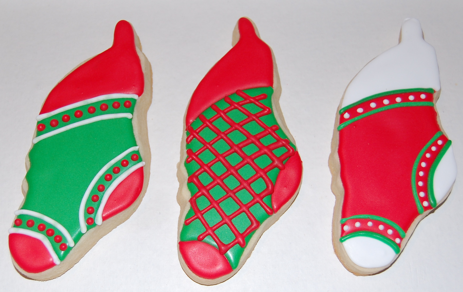 Christmas Stocking Sugar Cookies