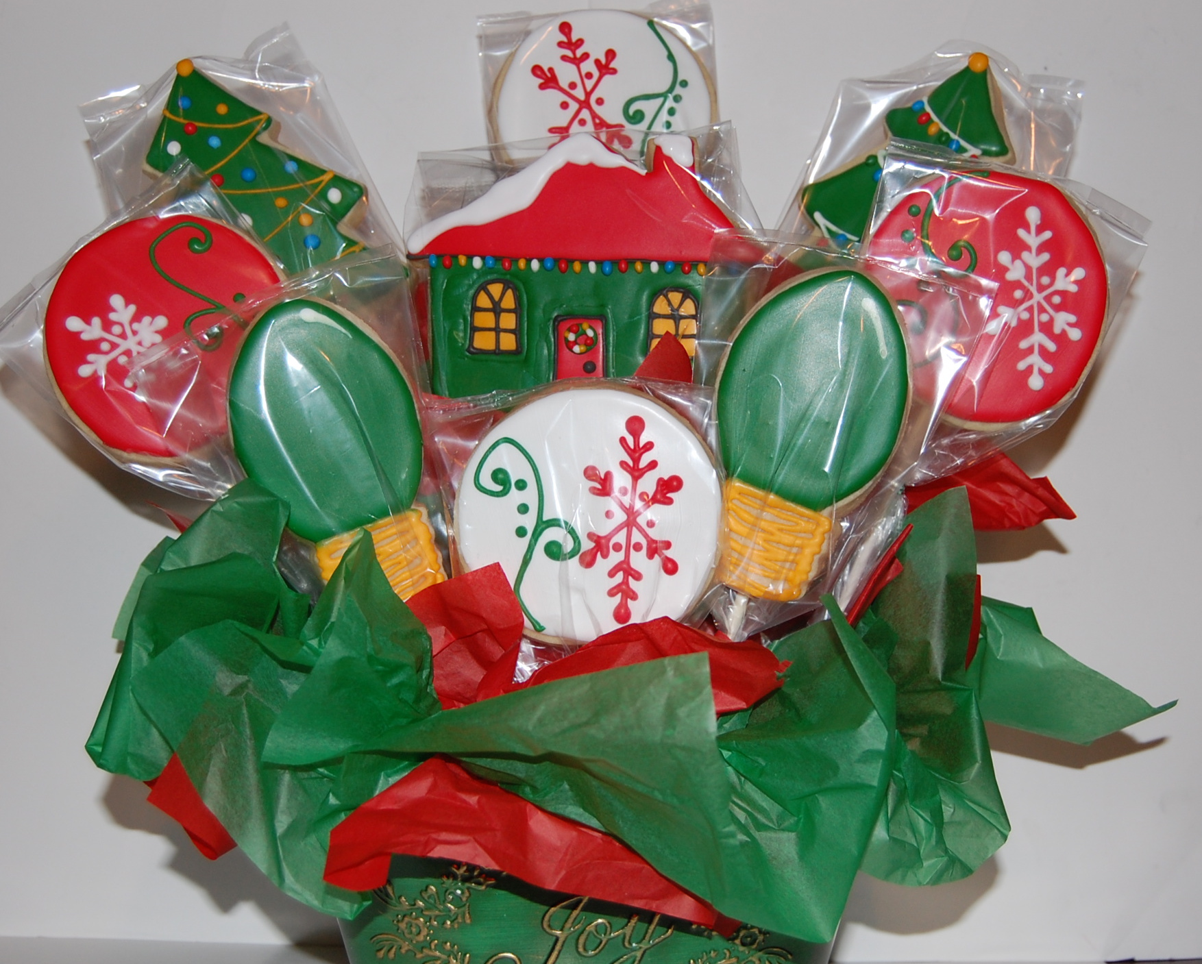 Christmas Sugar Cookie Bouquet