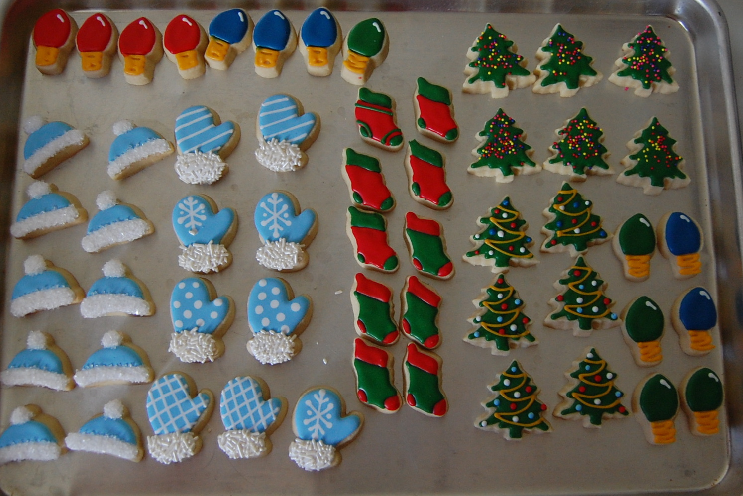 Mini Christmas Sugar Cookies