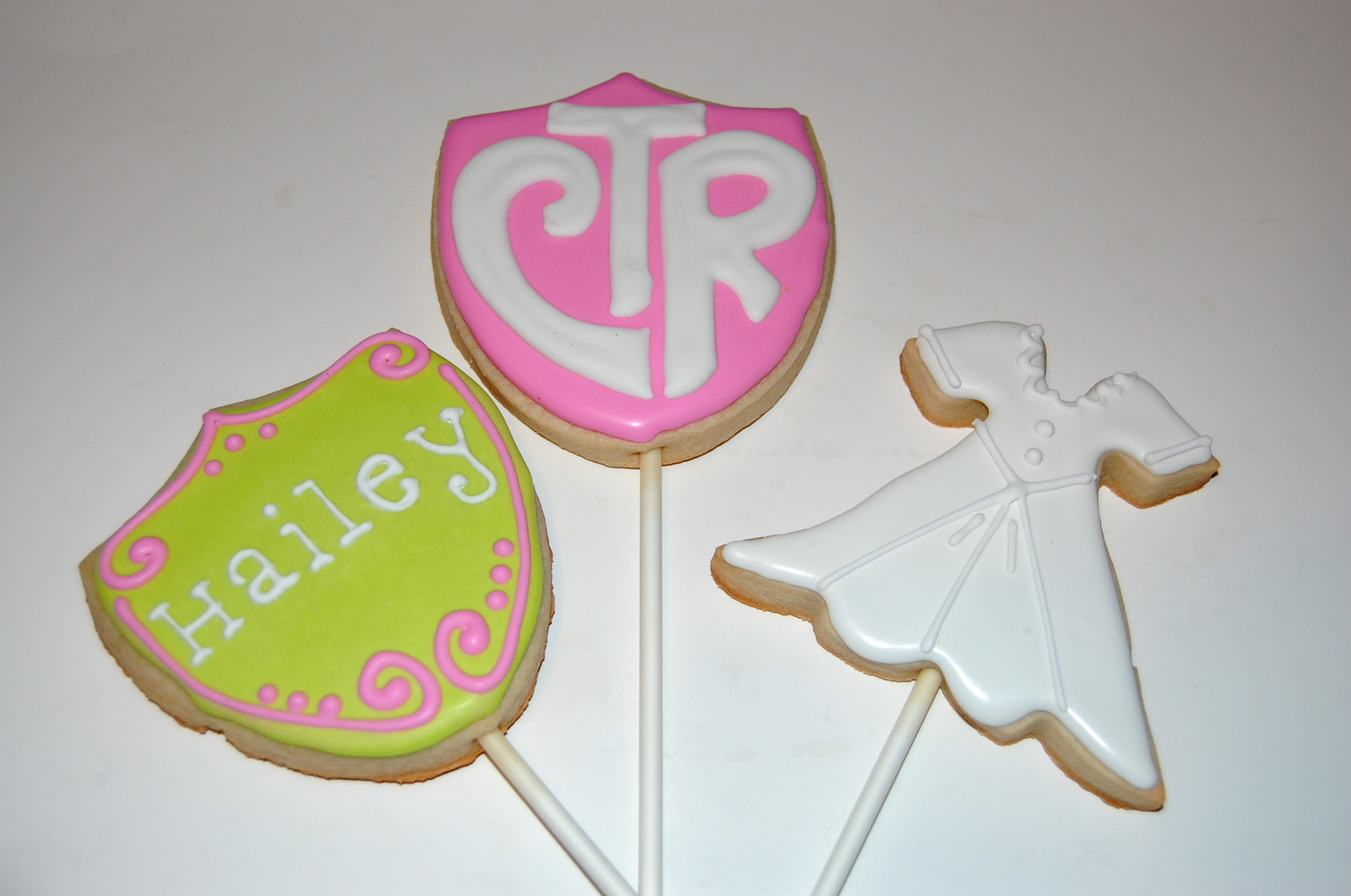 CTR, White Dress, Baptism Sugar Cookies