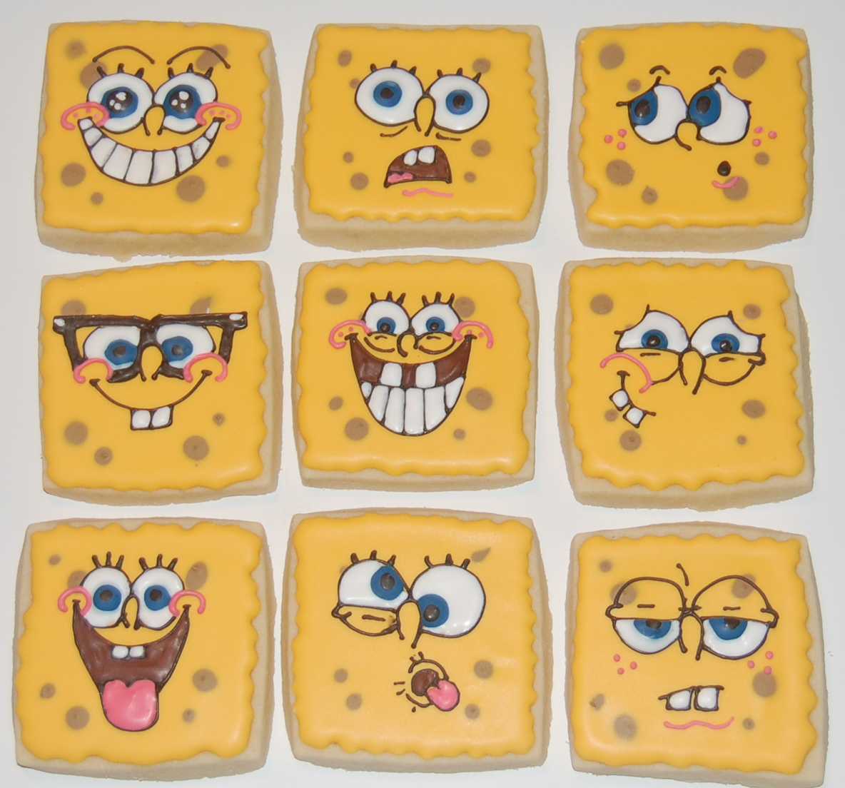 Spongebob Squarepants Sugar Cookies
