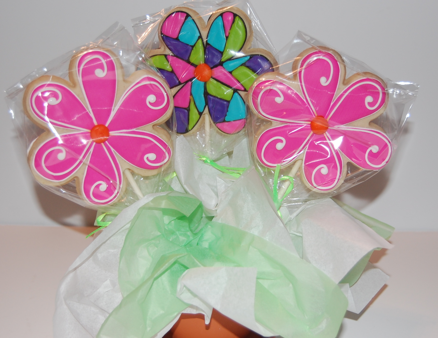 Double Sided Flower Sugar Cookie Bouquet - front