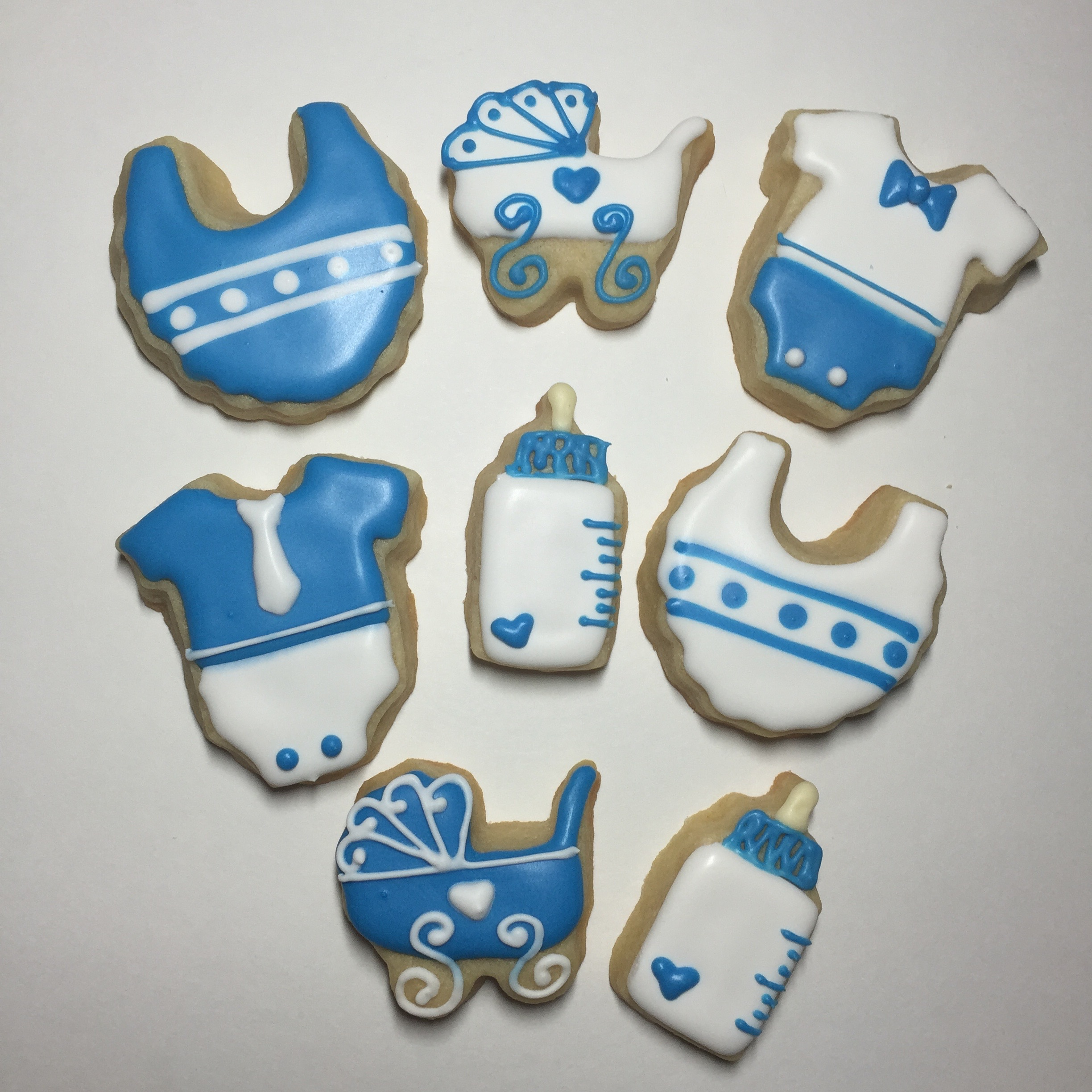 Lovely Mini Baby Shower Sugar Cookies